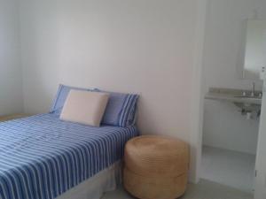 Cama o camas de una habitación en Praia e Piscina
