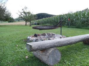 Ein Garten an der Unterkunft Ferienwohnung Luzia