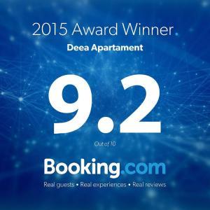 Un certificat, premiu, logo sau alt document afișat la Deea Apartament