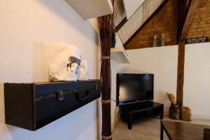 TV/Unterhaltungsangebot in der Unterkunft Apartments Bleibe 1 + 2