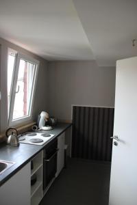 Küche/Küchenzeile in der Unterkunft private Ferienwohnung