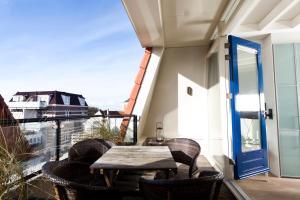 Ein Balkon oder eine Terrasse in der Unterkunft Appartementen Domburg