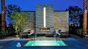 The swimming pool at or near Studio with Strip View & Balcony
