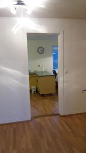 A bathroom at Heidarvegur 11 apartment
