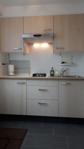 Cuisine ou kitchenette dans l'établissement FlipFlop