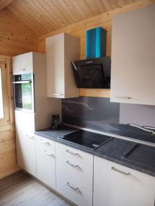 A kitchen or kitchenette at Ferienhaus Holzhaisl