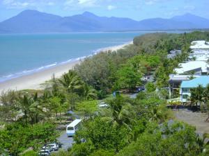 Blick auf The Beach Place aus der Vogelperspektive