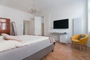 TV o dispositivi per l'intrattenimento presso Elegant Apartment Wien Messe / WU