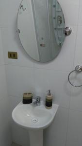 Un baño de Cabañas del Profe, Puerto Montt