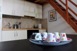 A cozinha ou cozinha compacta de Casa Flaminia Trastevere