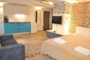 Majoituspaikan Aasa Apartments keittiö tai keittotila