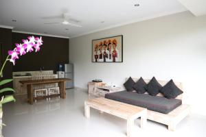 A seating area at Villa Padma Ubud