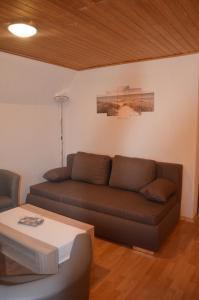 Ein Sitzbereich in der Unterkunft FeWo Deichblick Wischhafen