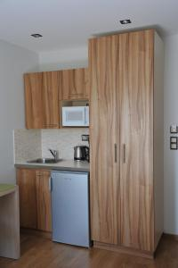 A kitchen or kitchenette at Elements Rooms & Apartments
