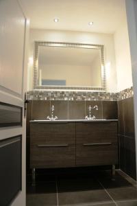 Salle de bains dans l'établissement Lyon Cité Internationale