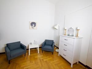 Ein Sitzbereich in der Unterkunft Ferienwohnungen an der Lahn