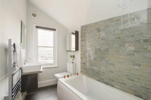 A bathroom at Market Street Apartments