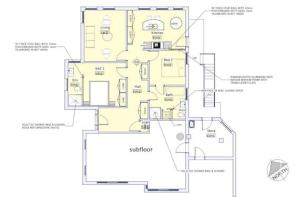 The floor plan of Caradi Apartment