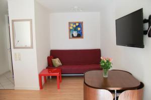 Ein Sitzbereich in der Unterkunft Holiday Apartment Zwinger