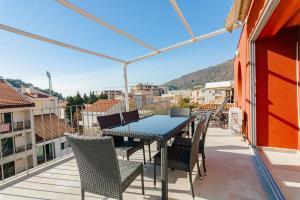 A balcony or terrace at Jovanovic Apartments