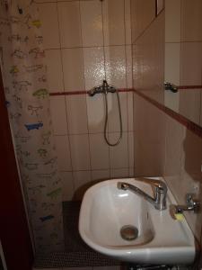 A bathroom at Farma Rybníček