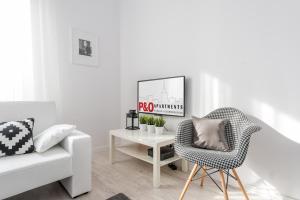 Svetainės erdvė apgyvendinimo įstaigoje P&O Apartments Rondo Radosława