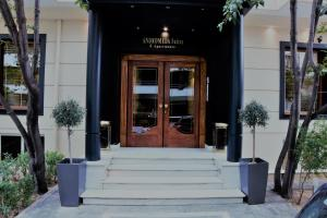 The facade or entrance of Andromeda Suites