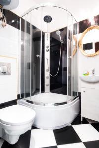 A bathroom at Silver Wolf Secesja