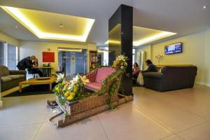 De lobby of receptie bij Duas Torres Hotel