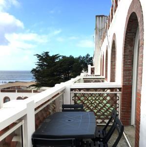 Balcon ou terrasse dans l'établissement La Résidence de L'Océan