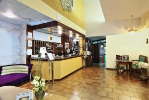 The lobby or reception area at Hotel Residence Sogno