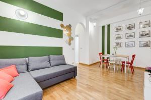 Uma área de estar em San Cosimato House