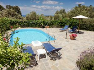 The swimming pool at or near Luxury Villa in Prines Crete with Swimming Pool