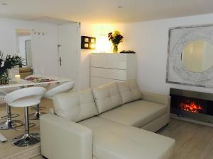 Un lugar para sentarse en Panoramic Apartments Sitges