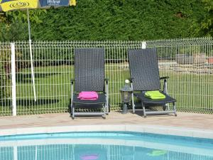 The swimming pool at or near Cozy Villa in Saint-Victor-de-Malcap with Swimming Pool
