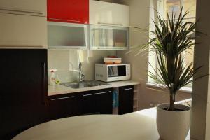Majoituspaikan Komeedi Apartment keittiö tai keittotila