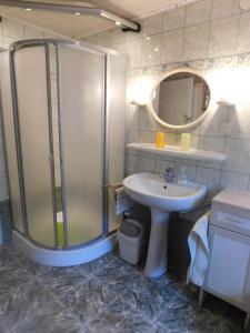 Koupelna v ubytování Ferienhaus in Zalabaksa