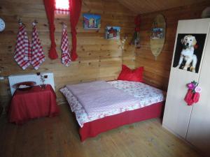 Ein Bett oder Betten in einem Zimmer der Unterkunft Ferienparadies Goritschnig