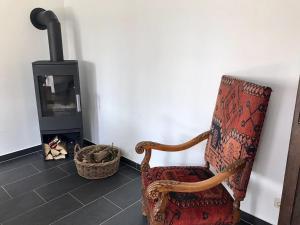 Ein Sitzbereich in der Unterkunft Ferienhaus Libelle