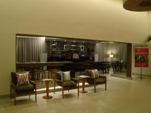 The lounge or bar area at Flat 508 Recife