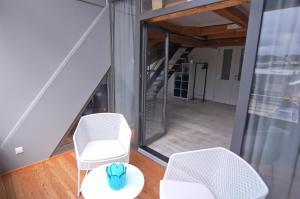 Ein Sitzbereich in der Unterkunft Seeträume Reichenau