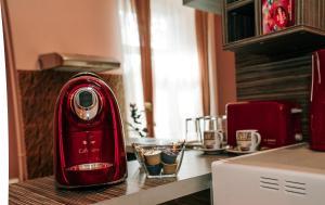 Coffee and tea-making facilities at Ana Apartment