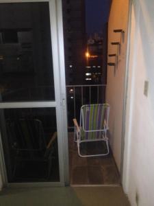 A balcony or terrace at APTO CENTRAL COM WI-FI