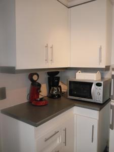 Cuisine ou kitchenette dans l'établissement HOLLYWOOD12