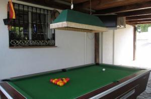 A billiards table at Casa de Marbilla