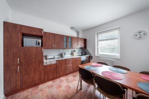 Kuchyň nebo kuchyňský kout v ubytování Apartmán U Lanovky