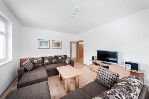 Posezení v ubytování Apartmán U Lanovky
