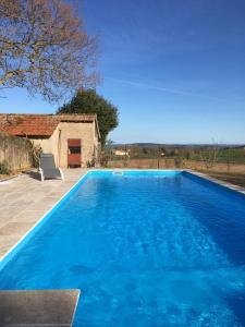 The swimming pool at or near Gites La Tourelle