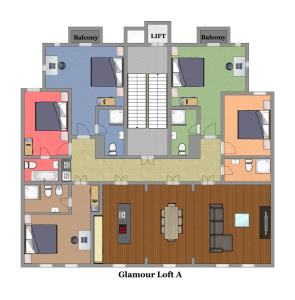 The floor plan of Residence Glamour Premium