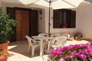 En uteplass på Appartamenti Monacò